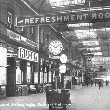 Rugby.  L.N.W.R. Railway Station, south platform