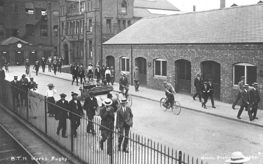 B.T.H. works, Rugby.  1910s |  IMAGE LOCATION: (Warwickshire County Record Office)