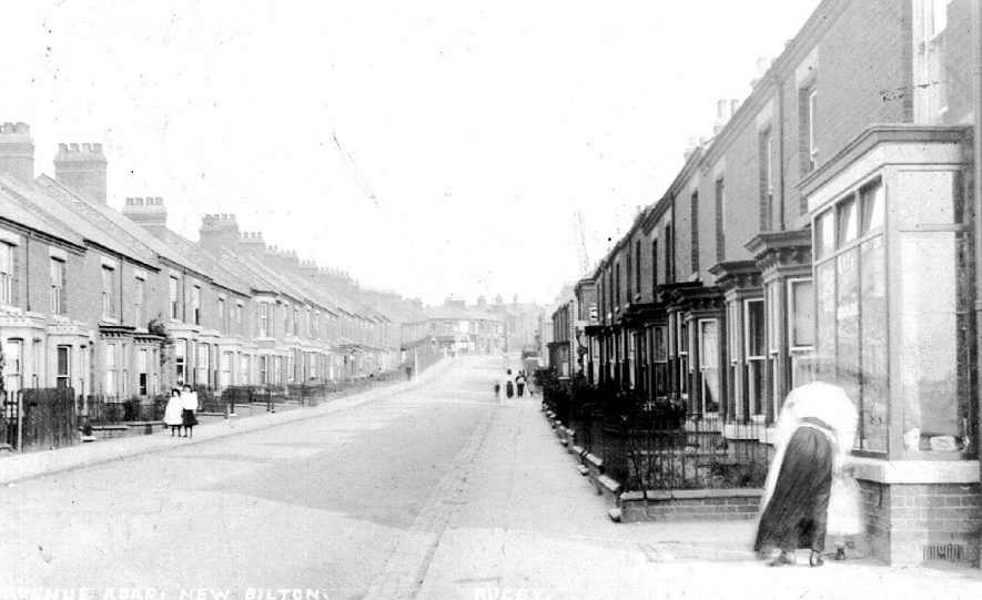 Avenue Road, Rugby.  1900s |  IMAGE LOCATION: (Warwickshire County Record Office)
