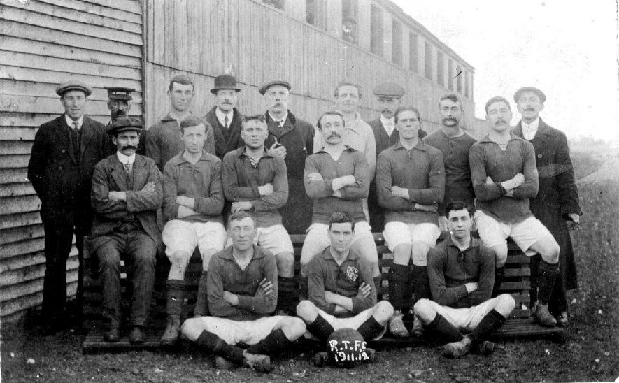Rugby Town Football Club group photograph.  1912 |  IMAGE LOCATION: (Warwickshire County Record Office)
