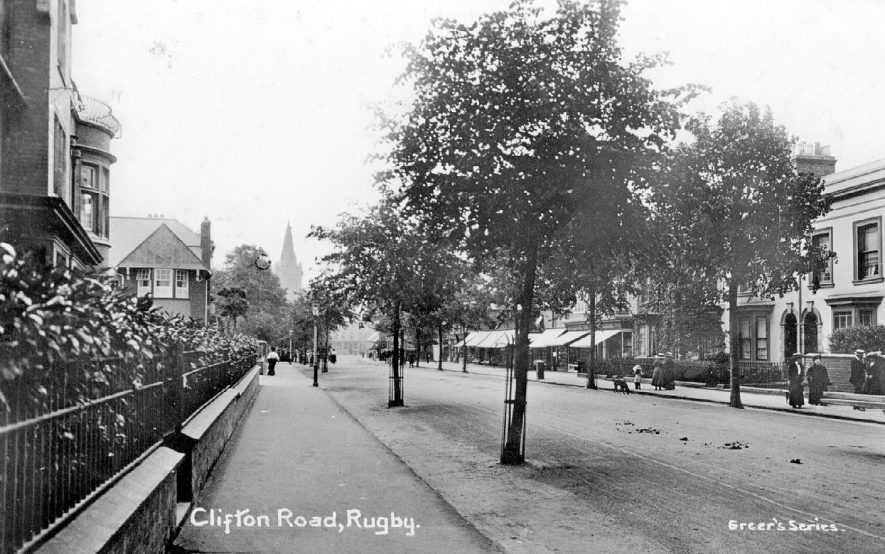 Clifton Road, Rugby.  1910s |  IMAGE LOCATION: (Warwickshire County Record Office)