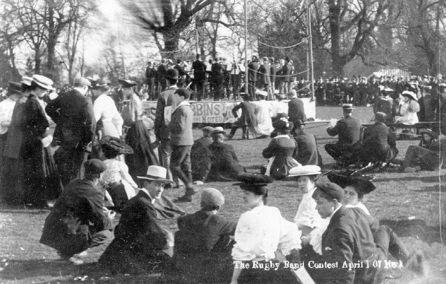 Band Contest, Rugby.  1900s |  IMAGE LOCATION: (Warwickshire County Record Office)