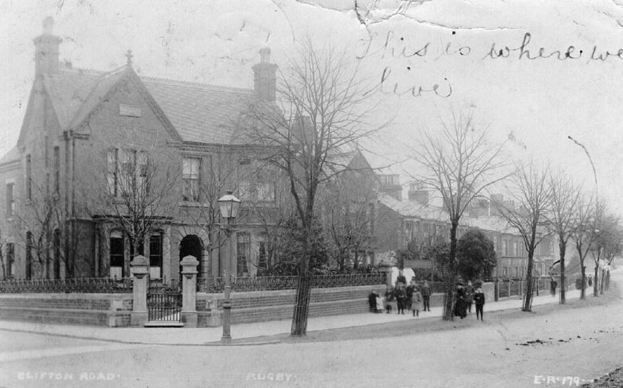 Clifton Road, Rugby.  1900s |  IMAGE LOCATION: (Warwickshire County Record Office)
