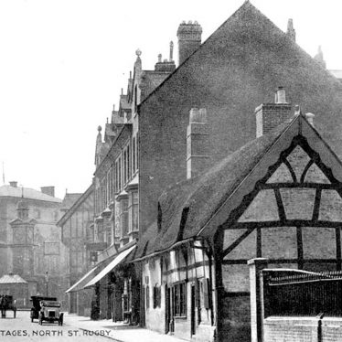 Rugby.  North Street, old cottages