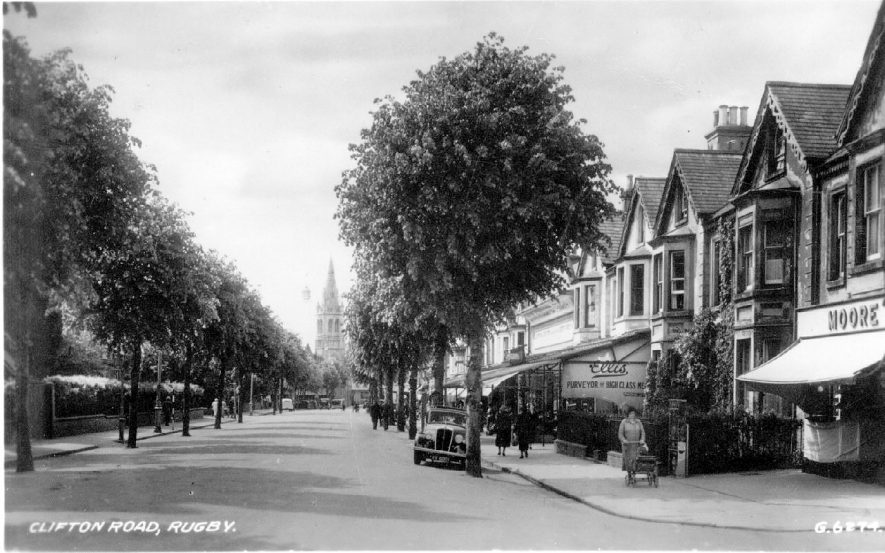 Shops in Clifton Road, Rugby.  1940s |  IMAGE LOCATION: (Warwickshire County Record Office)