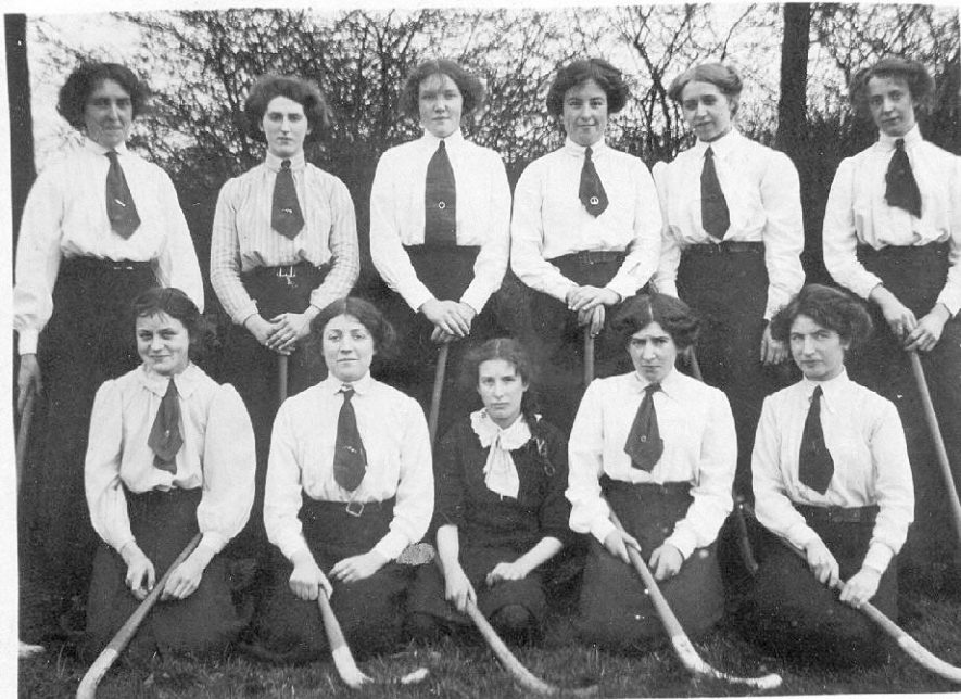 Rugby Co-operative ladies hockey club team.  1914-18 |  IMAGE LOCATION: (Warwickshire County Record Office)