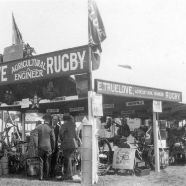 Rugby.  E.Truelove, Agricultural Engineer, Exhibition Stand