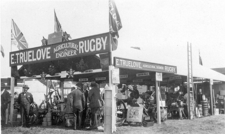 Exhibition stand for E.Truelove, Agricultural Engineer, Rugby.  1920s |  IMAGE LOCATION: (Warwickshire County Record Office)