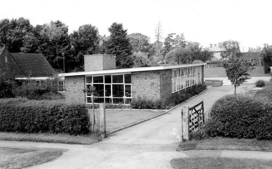 Modern school buildings and playground, Priors Marston.  1960s |  IMAGE LOCATION: (Warwickshire County Record Office)