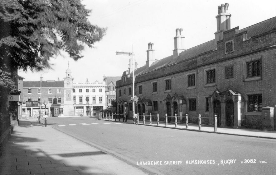 The Lawrence Sheriff Almshouses, Rugby.  1950s |  IMAGE LOCATION: (Warwickshire County Record Office)