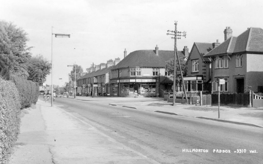Shops and houses in Hillmorton Paddox, Rugby.  1950s |  IMAGE LOCATION: (Warwickshire County Record Office)