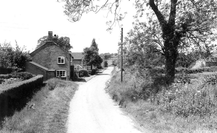 Looking down Keys Lane in Priors Marston.  1960s