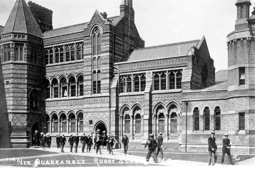 The New Quadrangle, Rugby School, postmark 1911, series 68 E.T.W. |  IMAGE LOCATION: (Warwickshire County Record Office)