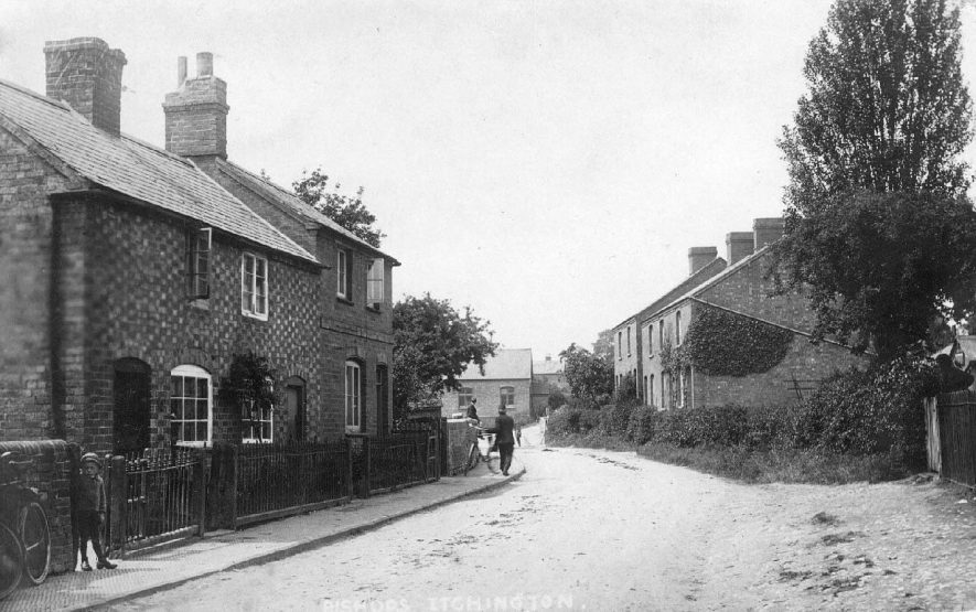 View of a road in Bishops Itchington.  1920s |  IMAGE LOCATION: (Warwickshire County Record Office)