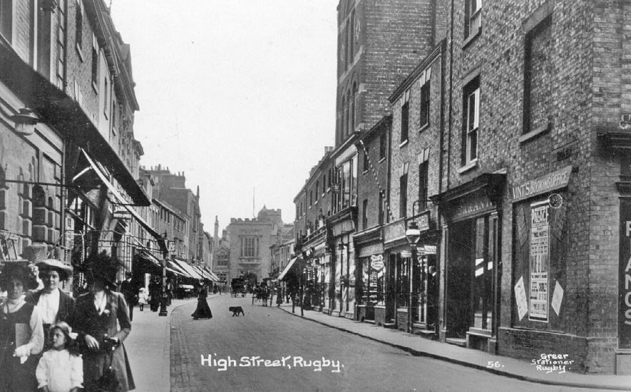 High Street, Rugby.  1910s |  IMAGE LOCATION: (Warwickshire County Record Office)