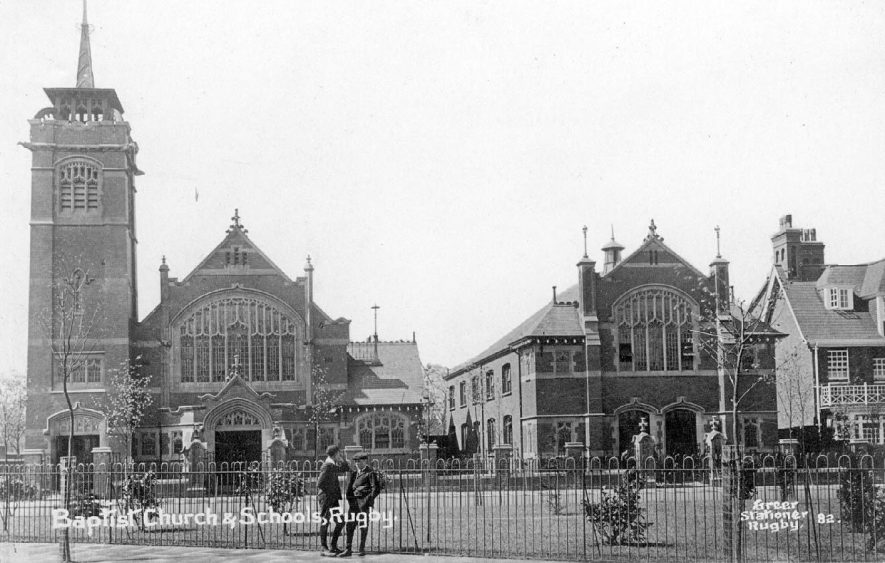 Baptist church and schools, Regent Place, Rugby.  1910s |  IMAGE LOCATION: (Warwickshire County Record Office)