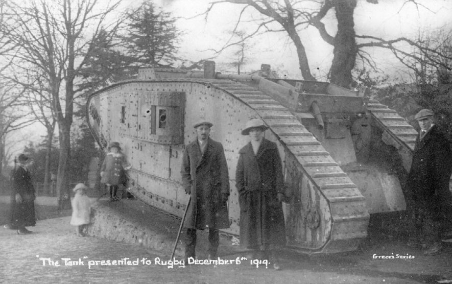 A tank from the 1914-18 war, Rugby. |  IMAGE LOCATION: (Warwickshire County Record Office)