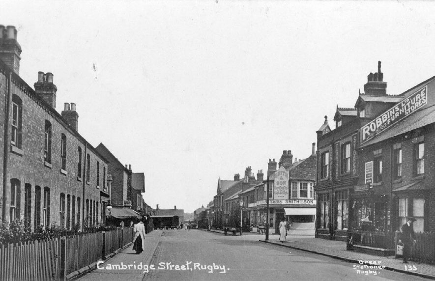 Cambridge Street,  Rugby.  1910s |  IMAGE LOCATION: (Warwickshire County Record Office)