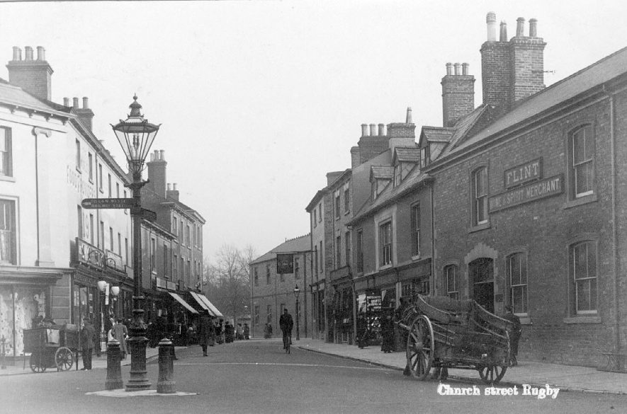 Church Street, Rugby. postmark 1908. |  IMAGE LOCATION: (Warwickshire County Record Office)