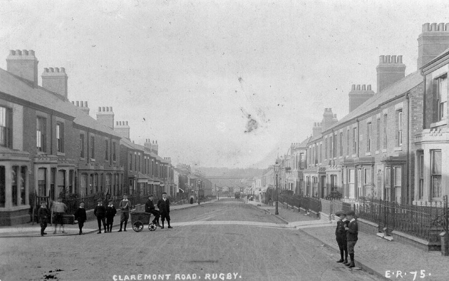 Claremont Road, Rugby.  1905 |  IMAGE LOCATION: (Warwickshire County Record Office)