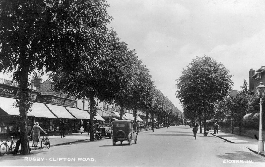 Clifton Road, Rugby.  1920s |  IMAGE LOCATION: (Warwickshire County Record Office)