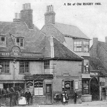 Rugby.  Market Place, Old Crown Inn