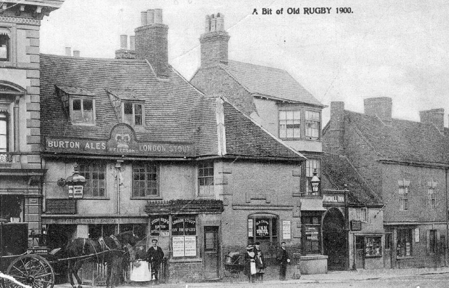 The Old crown Inn, Rugby.  1905 |  IMAGE LOCATION: (Warwickshire County Record Office)