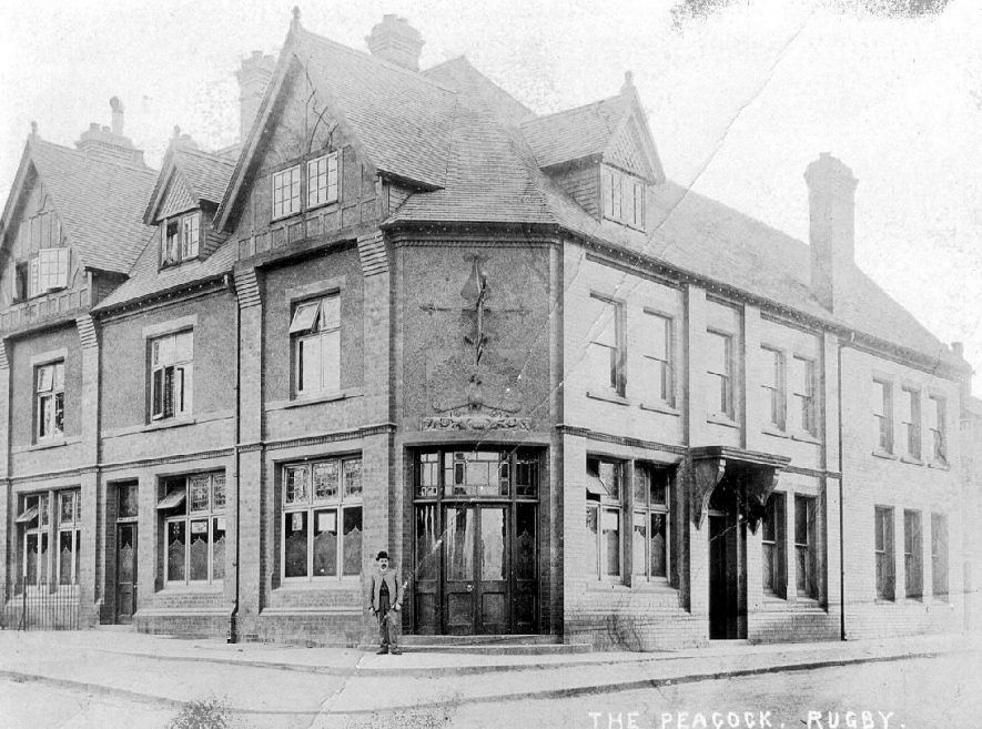 The Peacock, Newbold Road, Rugby.  1910 |  IMAGE LOCATION: (Warwickshire County Record Office)