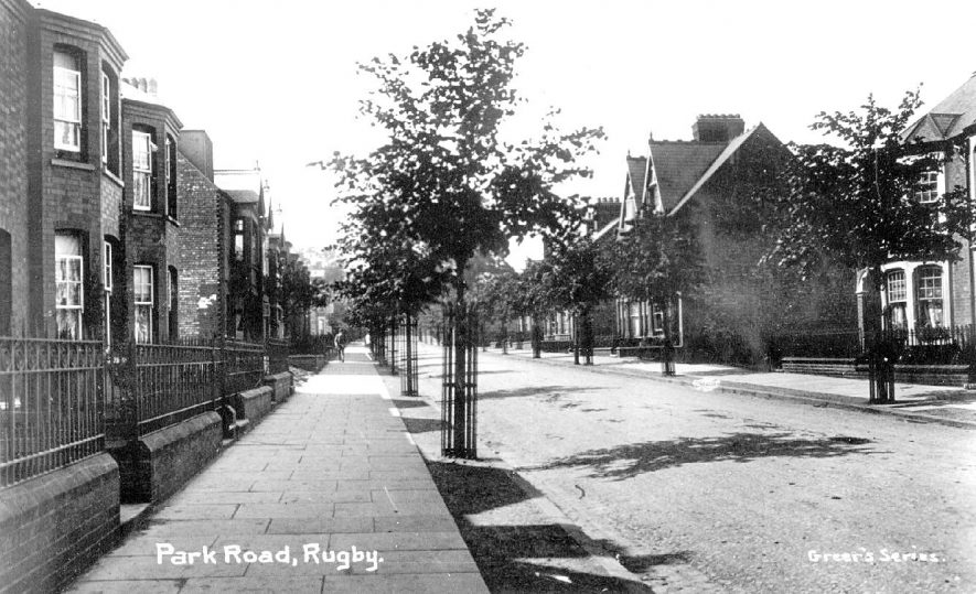 Park Road,  Rugby.  1910s |  IMAGE LOCATION: (Warwickshire County Record Office)