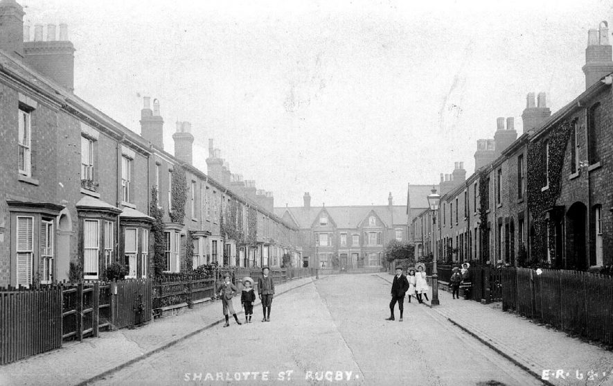Charlotte Street, Rugby.  1900s |  IMAGE LOCATION: (Warwickshire County Record Office)