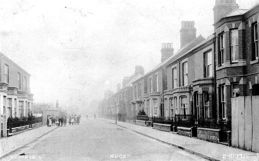 Temple Street,  Rugby.  1900s |  IMAGE LOCATION: (Warwickshire County Record Office)