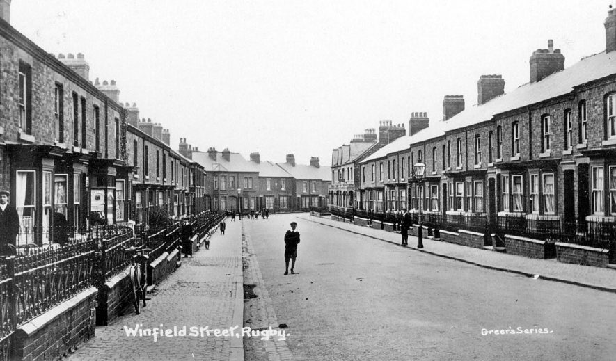 Winfield Street, Rugby.  1910 |  IMAGE LOCATION: (Warwickshire County Record Office)
