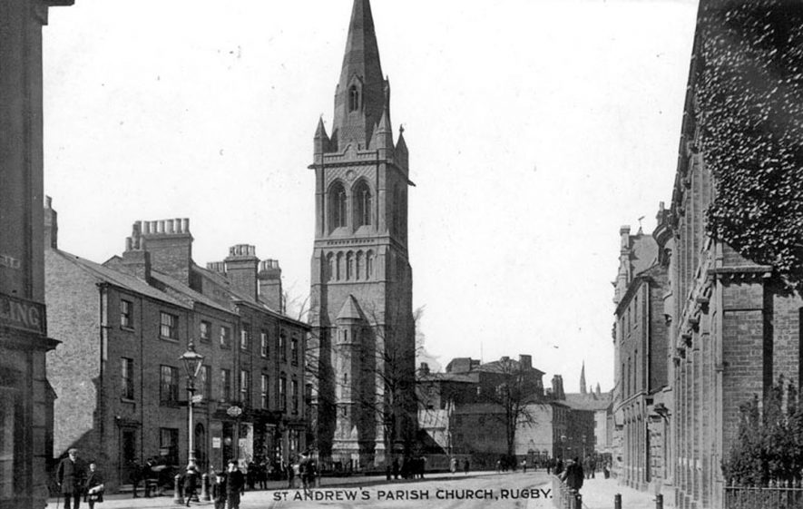St Andrew's Church, Rugby.  1920s |  IMAGE LOCATION: (Warwickshire County Record Office)