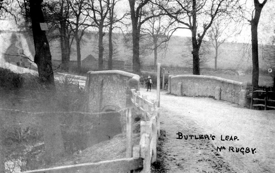 Bridge at Butler's Leap, near Rugby.  1900s |  IMAGE LOCATION: (Warwickshire County Record Office)