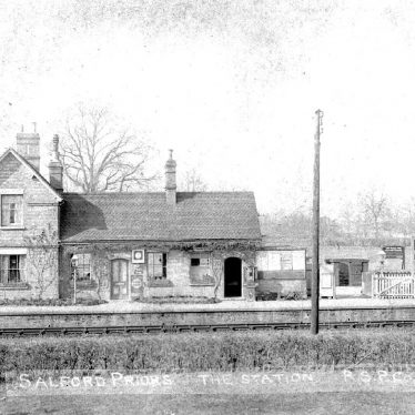 Salford Priors.  Railway Station