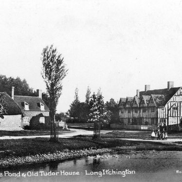 Long Itchington.  Pond and Tudor House