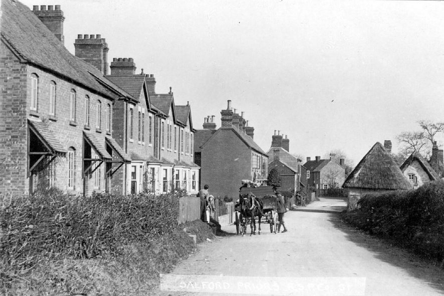 Village street scene in Salford Priors, in the 1900s. |  IMAGE LOCATION: (Warwickshire County Record Office)