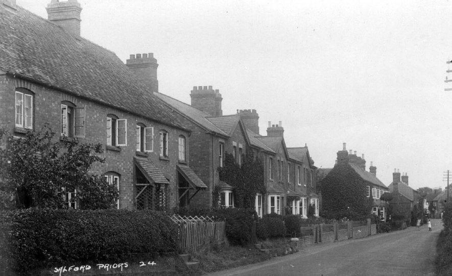 Street scene in Salford Priors.  1920s