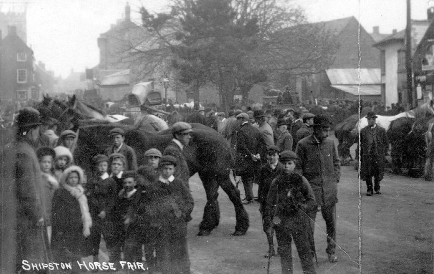 The Horse Fair at Shipston on Stour.  1910s |  IMAGE LOCATION: (Warwickshire County Record Office)