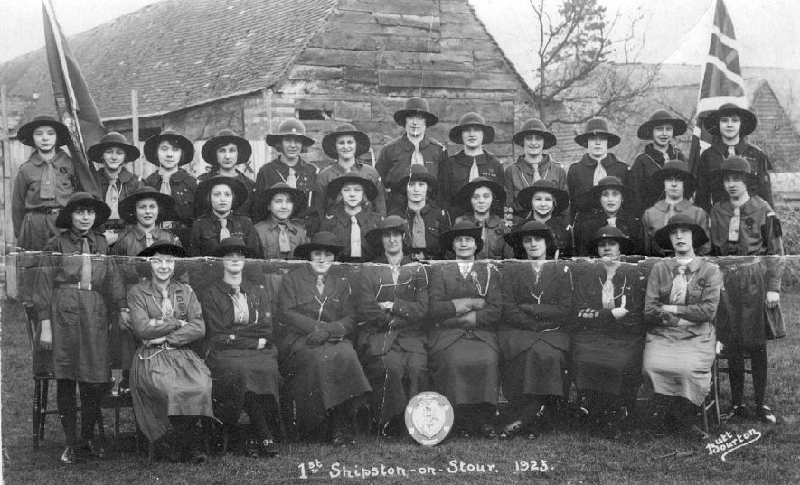 Group photograph of 1st Shipston Girl Guides.  1923 |  IMAGE LOCATION: (Warwickshire County Record Office)