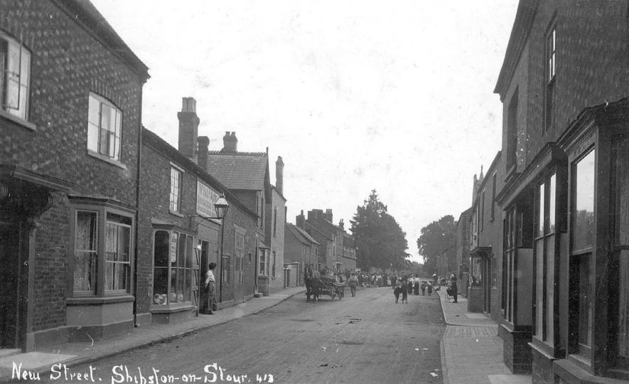 New Street, Shipston on Stour.  1910s |  IMAGE LOCATION: (Warwickshire County Record Office)