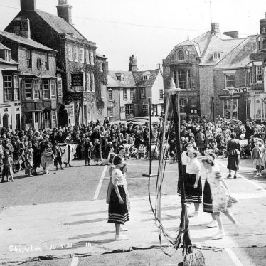 Shipston on Stour.  Maypole dancing