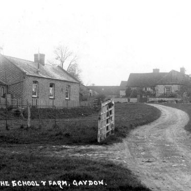 Gaydon.  School and farm