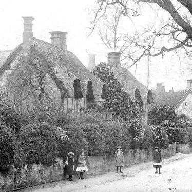 Snitterfield.  Thatched cottages