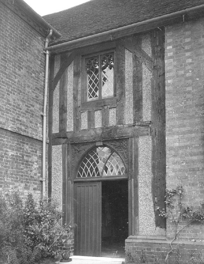Doorway, The Manor House, Long Itchington.  1920s |  IMAGE LOCATION: (Warwickshire County Record Office)