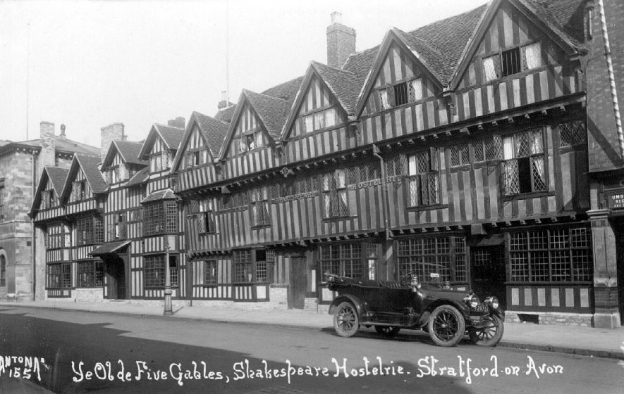 The Shakespeare Hotel,  Stratford upon Avon.  1920s |  IMAGE LOCATION: (Warwickshire County Record Office)