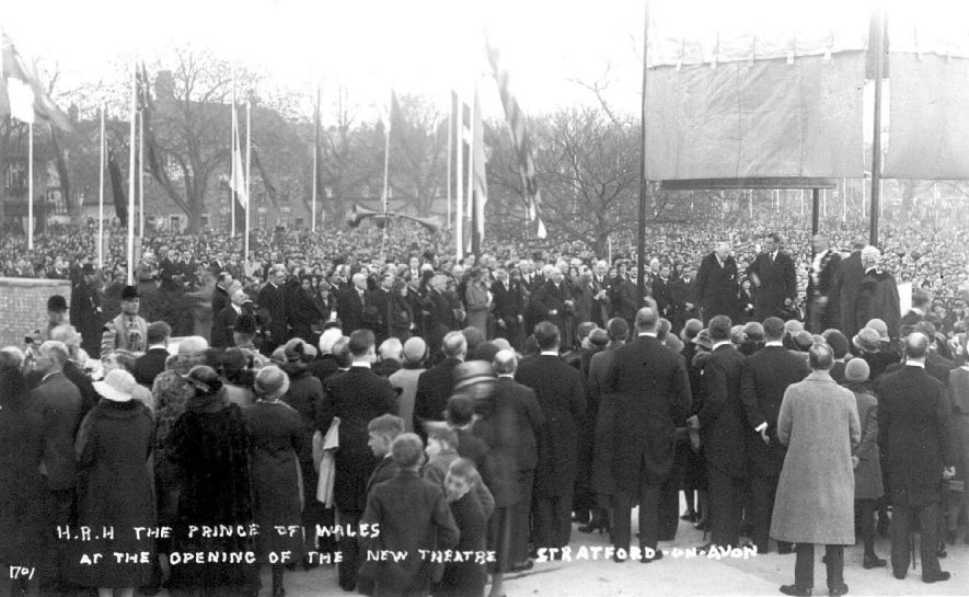 Opening of new theatre by H.R.H. Edward Prince of Wales, Stratford upon Avon.  1932 |  IMAGE LOCATION: (Warwickshire County Record Office) PEOPLE IN PHOTO: Edward, Prince of Wales