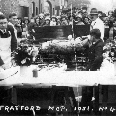 Stratford upon Avon.  Mop, pig roast