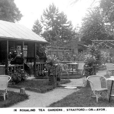 Stratford upon Avon.  Rosalind Tea Gardens