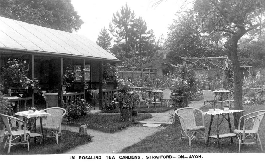 Rosalind Tea Gardens, Stratford upon Avon.  1920s |  IMAGE LOCATION: (Warwickshire County Record Office)